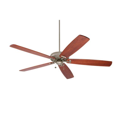 Crown Select Antique Pewter 72-Inch Ceiling Fan with Walnut Solid Wood Blades