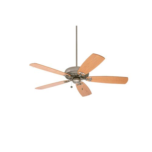 Crown Select Antique Pewter 54-Inch Ceiling Fan with Medium Oak Blades