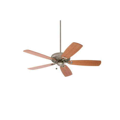 Crown Select Antique Pewter 54-Inch Ceiling Fan with Teak Blades
