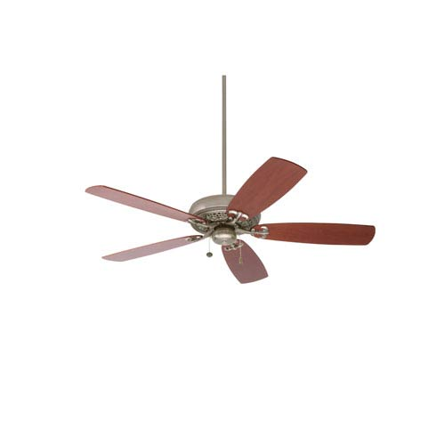 Crown Select Antique Pewter 54-Inch Ceiling Fan with Walnut Blades