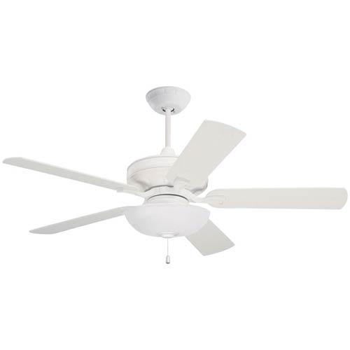Emerson Fans Bella Satin White 42-Inch Ceiling Fan
