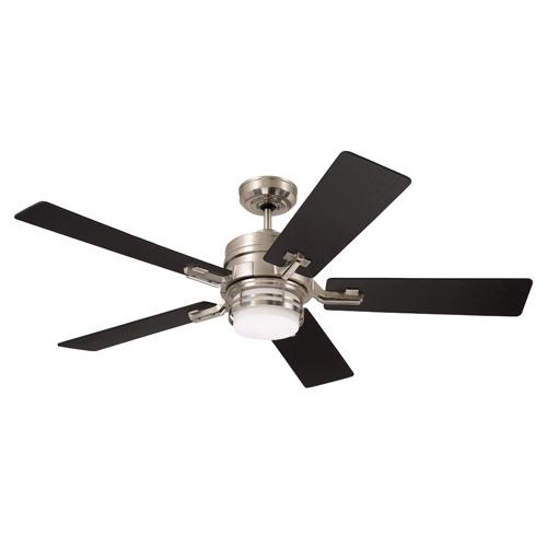 Amhurst Brushed Steel Two Light Ceiling Fan