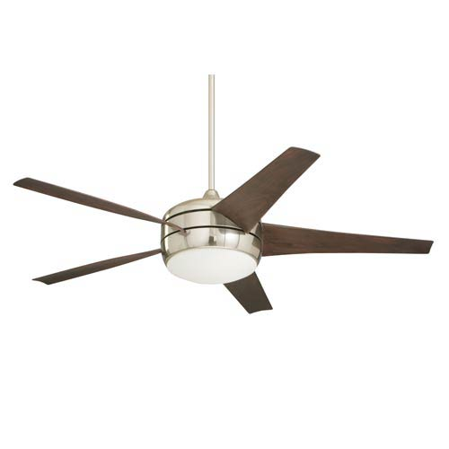 Midway Eco Brushed Steel Energy Star 54-Inch Ceiling Fan with Light Kit