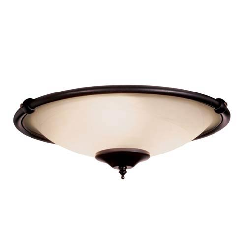 Low Profile Oil Rubbed Bronze Damp Ceiling Fan Light Kit