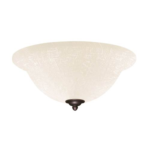 Emerson Fans Gilded Bronze Fluorescent Three Light Ceiling Fan Kit with White Linen Glass