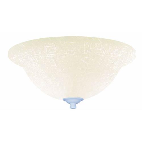 Emerson Fans Satin White Fluorescent Three Light Ceiling Fan Kit with White Linen Glass