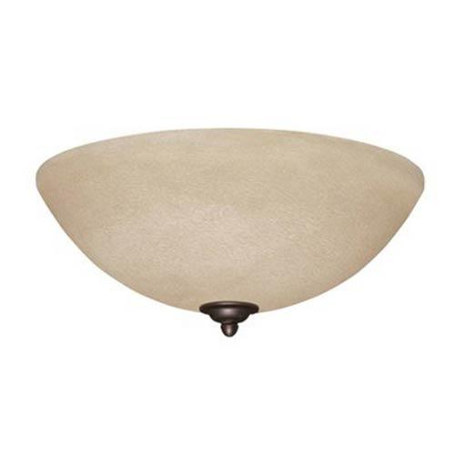 Antique Pewter Amber Mist LED Ceiling Fan Light Fixture