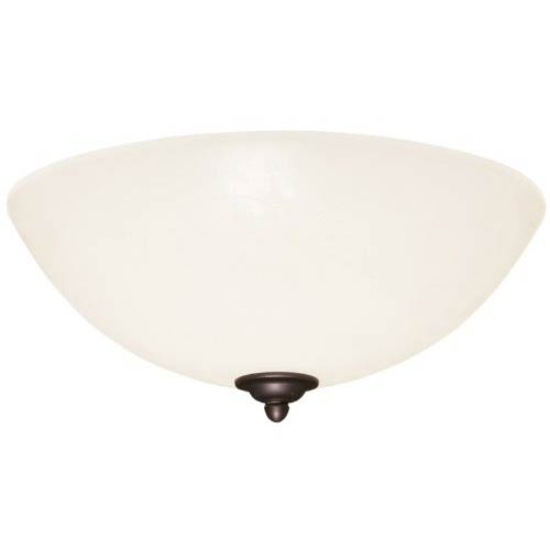 Emerson Fans Antique Pewter Fluorescent Three Light Ceiling Fan Fixture with Opal Matte Glass