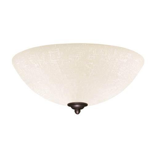 Emerson Fans Gilded Bronze Fluorescent Three Light Ceiling Fan Fixture with White Linen Glass