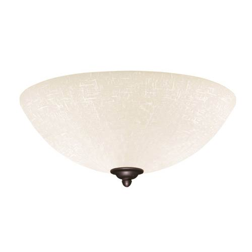 Emerson Fans Golden Espresso Fluorescent Three Light Ceiling Fan Fixture with White Linen Glass