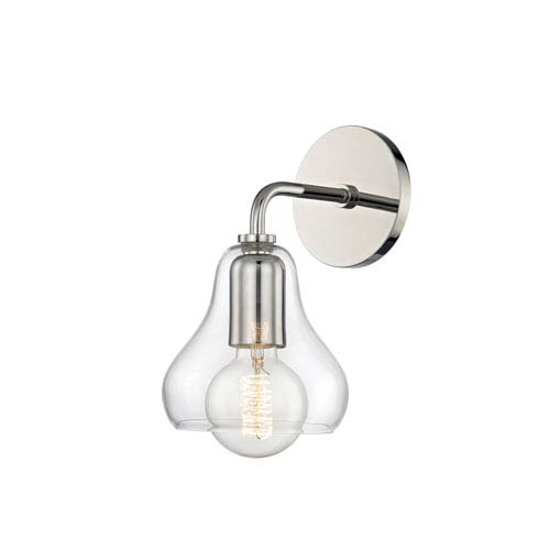 Mitzi by Hudson Valley Lighting Sadie Polished Nickel 6-Inch One-Light Wall Sconce