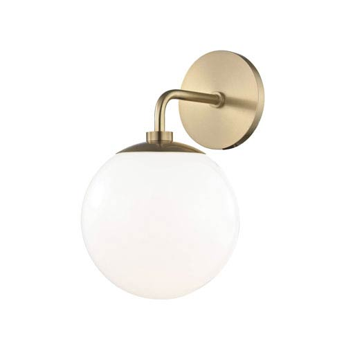 Stella Aged Brass 7-Inch One-Light Wall Sconce