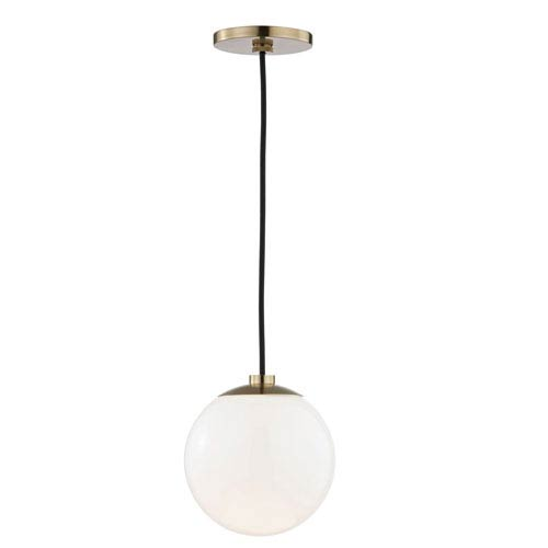Mitzi by Hudson Valley Lighting Stella Aged Brass 7-Inch One-Light Mini Pendant