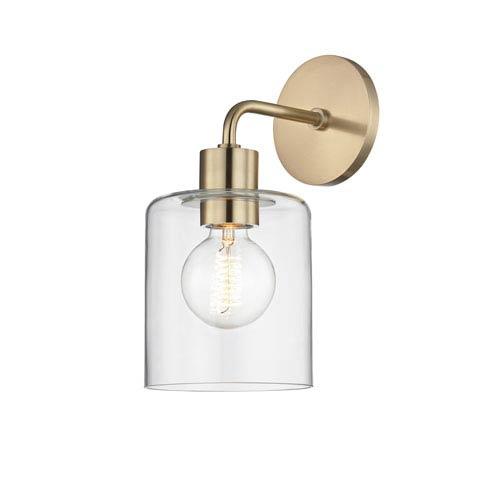 Neko Aged Brass 6-Inch One-Light Wall Sconce