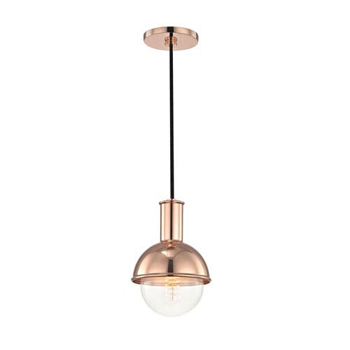 Riley Polished Copper 6-Inch One-Light Mini Pendant