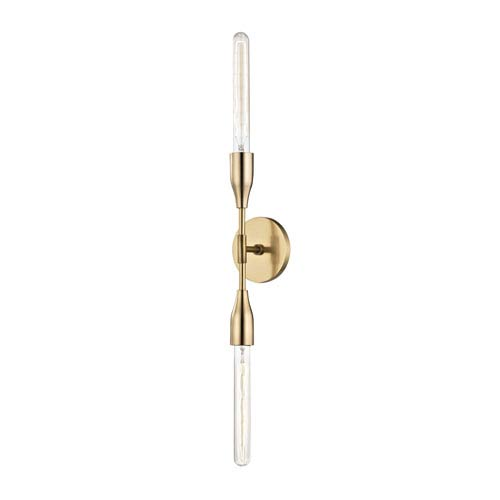 Tara Aged Brass 5-Inch Two-Light Wall Sconce