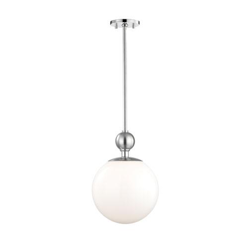 Mitzi by Hudson Valley Lighting Daphne Polished Nickel 11-Inch One-Light Pendant