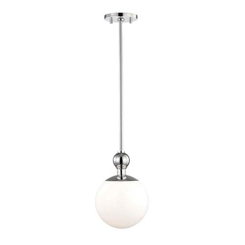 Mitzi by Hudson Valley Lighting Daphne Polished Nickel 8-Inch One-Light Mini Pendant