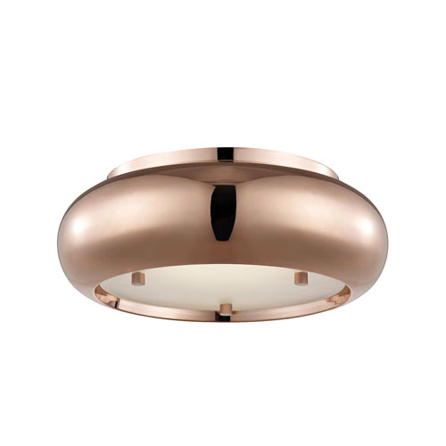 Keira Polished Copper 10-Inch LED Flush Mount