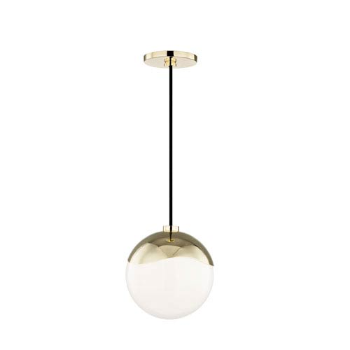 Ella Polished Brass 8-Inch One-Light Mini Pendant