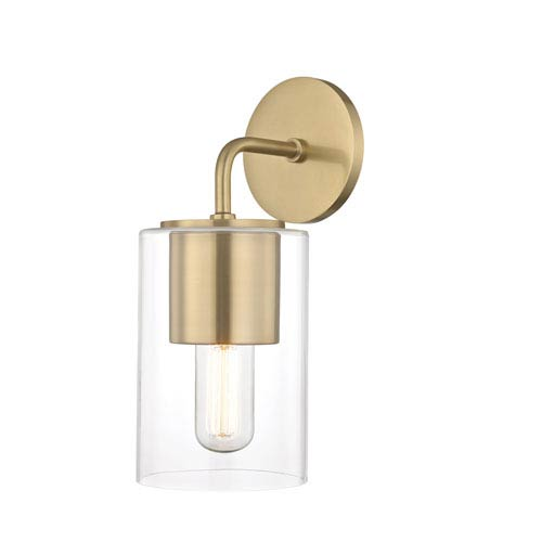 Lula Aged Brass 5-Inch One-Light Wall Sconce