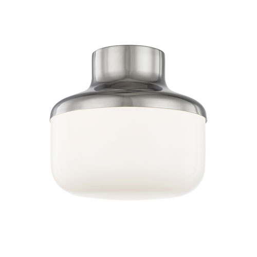 Livvy Polished Nickel 9-Inch One-Light Flush Mount