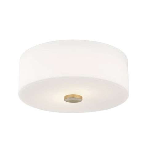 Sophie Aged Brass 12-Inch Two-Light Flush Mount