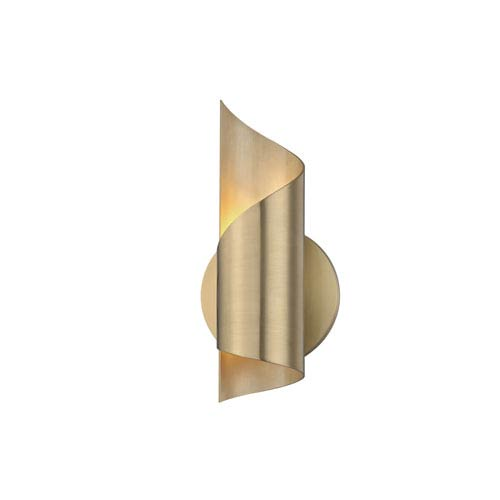 Evie Aged Brass 5-Inch LED Wall Sconce