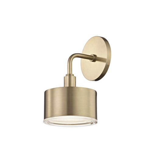 Mitzi by Hudson Valley Lighting Nora Aged Brass 5-Inch LED Wall Sconce