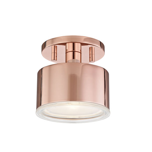 Nora Polished Copper 5-Inch LED Flush Mount