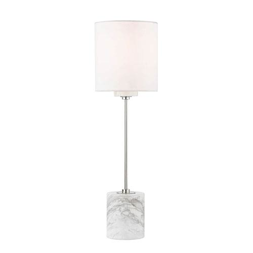 Fiona Polished Nickel 6-Inch One-Light Table Lamp