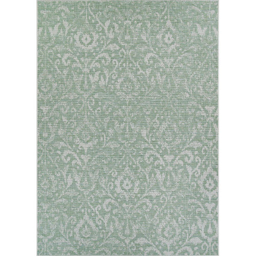 Marseille St. Marcel Vert Rectangular: 7 Ft. 6 In. x 10 Ft. 9 In. Indoor/Outdoor Rug