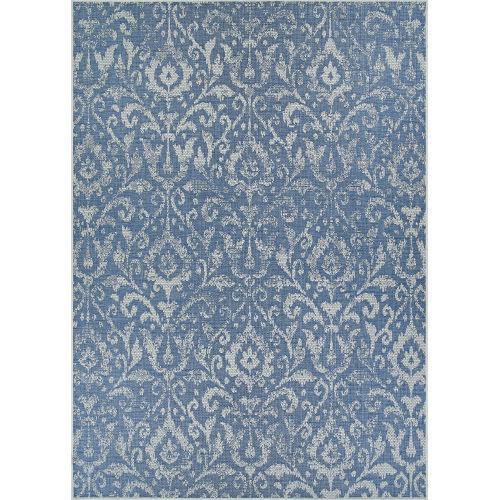 Marseille St. Marcel Blue Rectangular: 5 Ft. 10 In. x 9 Ft. 2 In. Indoor/Outdoor Rug