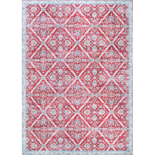 Pasha Arcadia Garnet Rectangular: 2 Ft. x 8 Ft. Runner