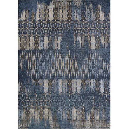 Dolce Blue Nile Indigo Rectangular: 5 Ft. 3 In. x 7 Ft. 6 In. Indoor/Outdoor Rug