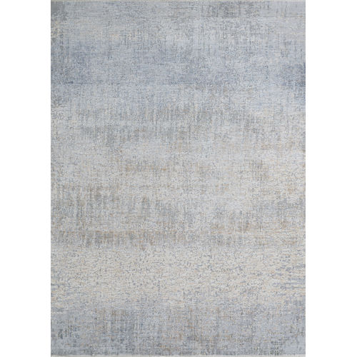 Couture Aquarelle Pewter 2 Ft. 2 In. x 8 Ft. 11 In. Rectangular Runner Rug