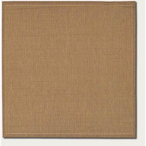 Recife Saddle Stitch Cocoa Square: 8 Ft. 6 In. x 8 Ft. 6 In. Rug