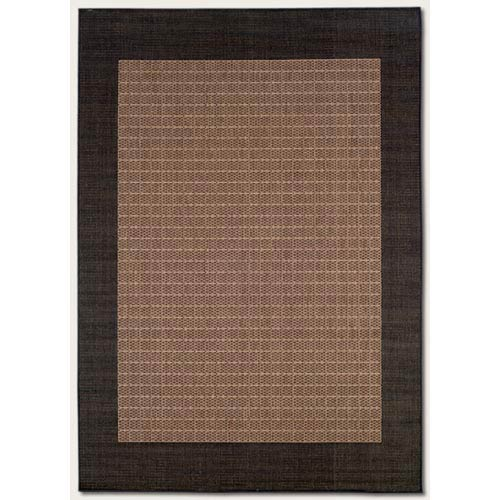 Recife Checkered Field Cocoa Rectangular: 5 Ft. 3 In.  x  7 Ft. 6 In. Rug