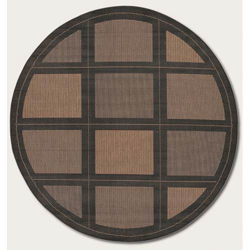Recife Summit Cocoa Round: 7 Ft. 6 In. Rug