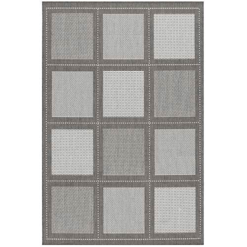 Recife Summit Grey White Rectangular: 5 ft. 10 in. x 9 ft. 2 in. Rug