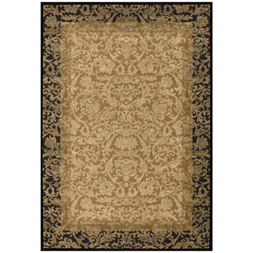 Everest Fontana Gold and Black 9 Ft. 2 In. X 12 Ft. 5 In. Rectangular Rug