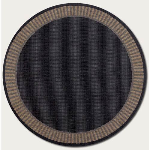 Couristan Recife Wicker Sch Black And Cocoa 7 Ft 6 In Round Indoor Outdoor Rug