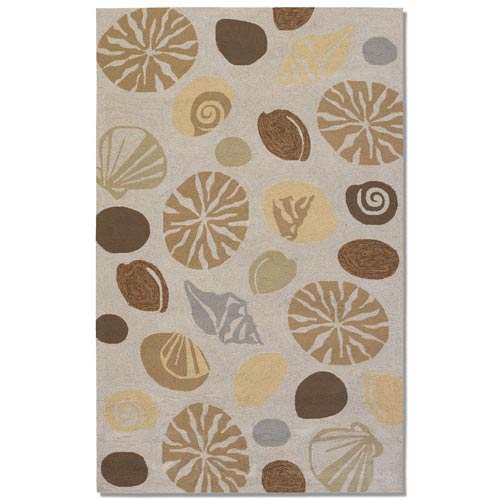 Outdoor Escape Barnegat Bay Sand Rectangular: 5 ft. 6 in. x 8 ft.  Rug