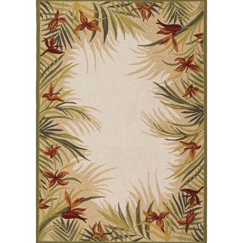 Covington Tropic Garden Sand Multi 5 Ft. 6 In. X 8 Ft. Indoor/Outdoor Rectangular Rug