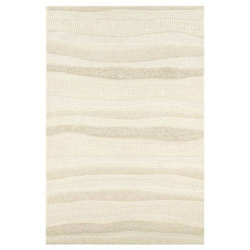 Couristan Super Indo-Natural Impressions Stripe White Rectangular: 2 Ft. x 4 Ft. Rug