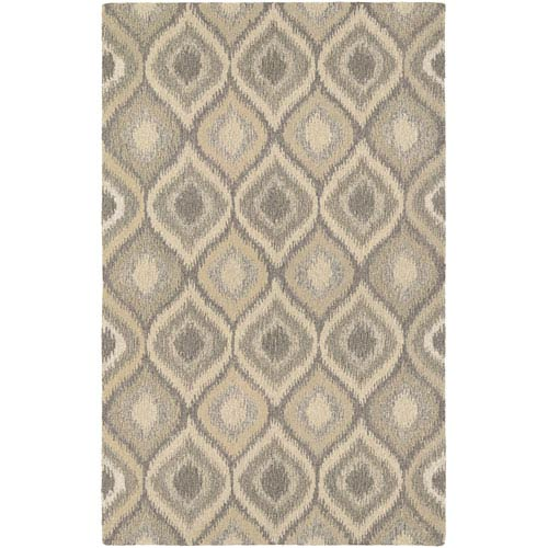 Couristan Super Indo-Natural Ridley Cream and Brown Rectangular: 2 Ft. x 4 Ft. Rug