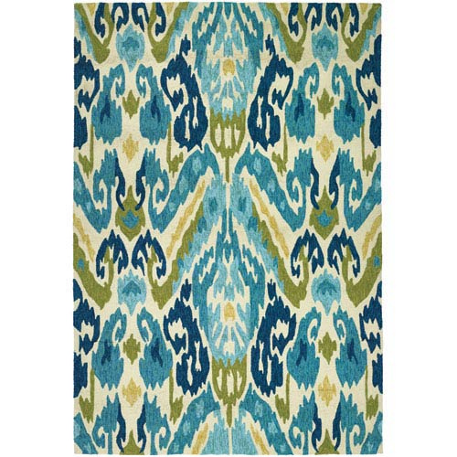 Covington Delfina Azure and Lemon Rectangular: 5 Ft. 6 In. x 8 Ft. Rug