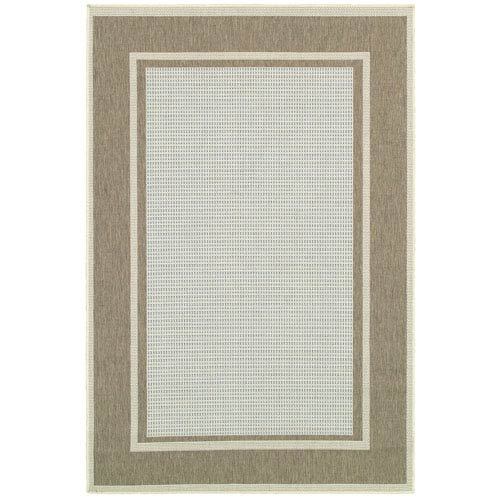 Monaco Maritime and Blue-Sand Rectangular: 5 Ft. 3 In. x 7 Ft. 6 In. Rug