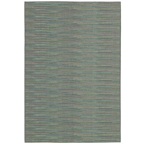 Couristan Monaco Larvotto and Blue Rectangular: 5 Ft. 3 In. x 7 Ft. 6 In. Rug