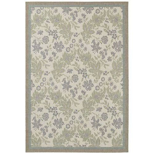 Couristan Monaco Palermo and Champagne-Moss Rectangular: 5 Ft. 3 In. x 7 Ft. 6 In. Rug